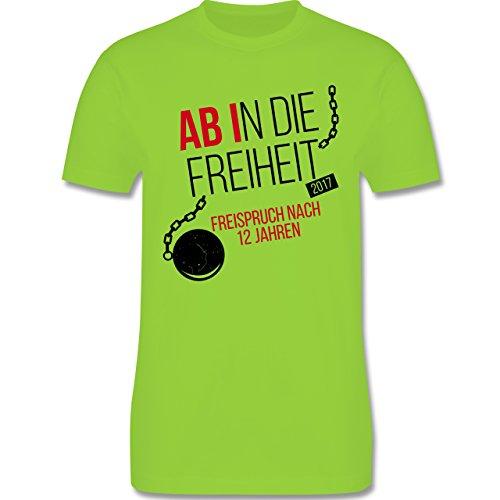 Abi & Abschluss - Abi 2017 Ab in die Freiheit - Herren Premium T-Shirt Hellgrün