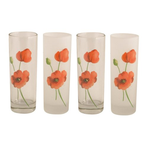 Ravenhead Alpine Poppy Tumblers, Pack of 4
