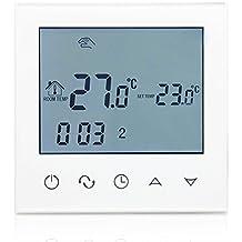 beok tds21-ep programable digital eléctrico calefacción por suelo radiante Termostato temperatura ambiente LCD Smart controlador 200–240V, 16A, Color blanco