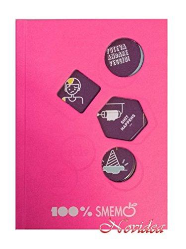 Gut novidea diario agenda smemoranda 16 mesi cartoline pocket rosa 2018/2019 16x11 cm + omaggio penna colorata