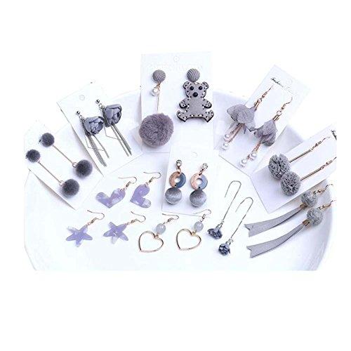 Bricolage Boucles d'oreilles clip oreille matériel gris à la main Earing accessoires Kit