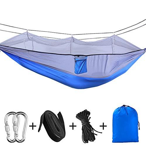 Hamac de camping portatif - Hamac extérieur / intérieur double / simple avec un filet pour...