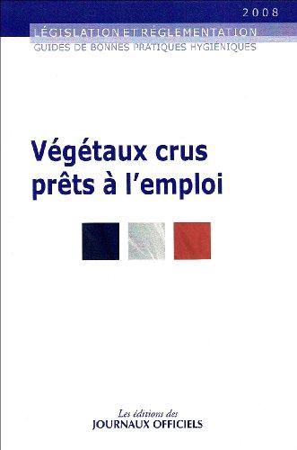 Végétaux crus prêts à l'emploi - Brochure 5900