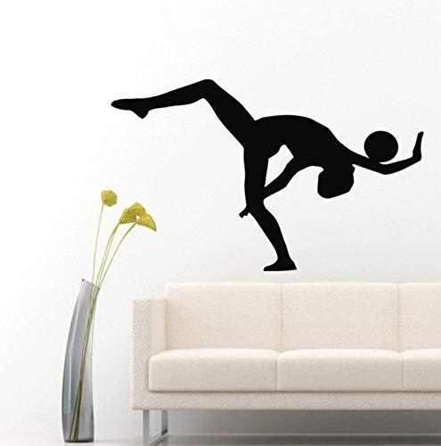 rin Mit Einem Ball Sport Gymnastik Menschen Wandtattoos Home Vinyl Wandkunst Aufkleber Aufkleber Kinder Kinderzimmer Baby Zimmer Wandbild56X87Cm ()