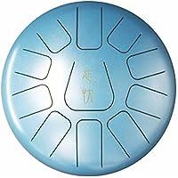 Tambor de Lengua Acero Tambor de Mano 10 pulgadas 11 notas de instrumento de percusión de percusión manual con bolsa de viaje acolchada y regalo perfecto para la meditación personal,yoga, tratamiento de sonido Azul