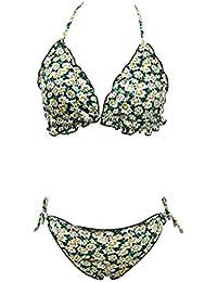 5d1bab08d57 FAMILIZO Ropa de Baño Mujer Bikini Push Up Tanga Trajes De Una Pieza Bikinis  Women Mujer De Dos Piezas De Flores…