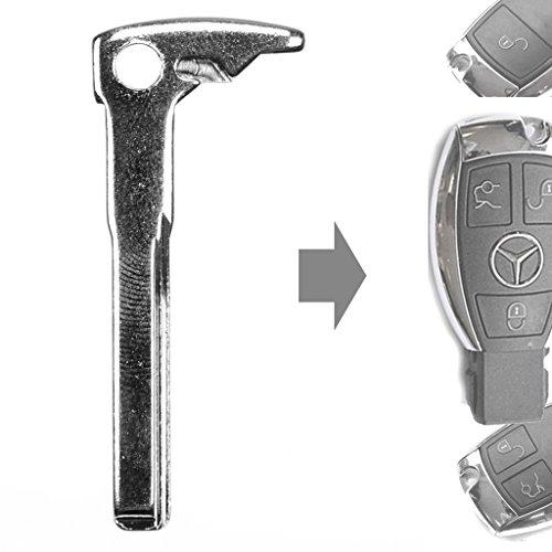 """Auto Schlüssel Smartkey Funk Fernbedienung Sender Schlüssel Rohling Notschlüssel Smartkey """"CHROM"""" für Mercedes Benz"""