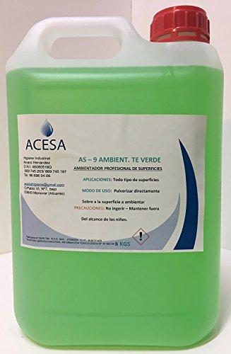 """Ambientador Profesional Concentrado Fragancia\""""Té Verde\"""" Formato Industrial 5L. ACESA"""