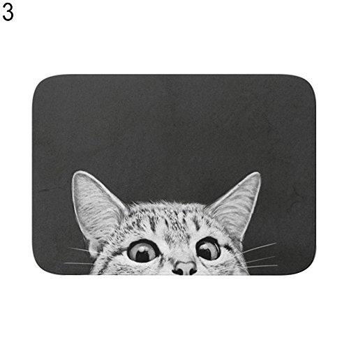 Vito546rton Badezimmerteppich, weich, Rutschfest, rechteckig, stilvolles Muster, niedliche Katze, geometrische Muster, Rutschfest, für Zuhause, 6 Stück 3#