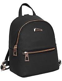 Espeedy Bolsa de mujer,La moda de las mujeres mini mochila PU cuero de la Universidad bandolera mochila de la escuela de señoras niñas bolsa de viaje casual,19*18*10cm