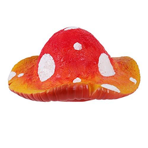 Sexy Erwachsene Für Zubehör Kostüm Perücke - bloatboy Lustige Fruchtform Hut - Halloween Karneval Cosplay Maskerade Party Lustige Gemüse Obst Hut Zubehör für Erwachsene und Kinder (Pilz)
