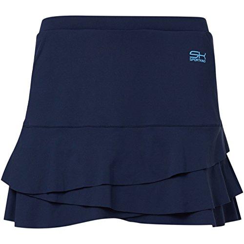 Sportkind Mädchen & Damen Tennis / Hockey / Golf Tulip Rock mit Taschen & Innenhose, navy blau, Gr. 164