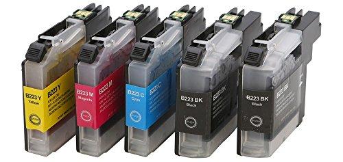 Preisvergleich Produktbild Druckerpatrone Tintenpatrone kompatibel für Brother LC-223 XXL 2 schwarz 1 cyan 1 magenta 1 yellow mit Chip geeignet für Brother DCP-Serie: DCP-J 562 DW / DCP-J 4120 DW MFC-J-Serie: MFC-J 4420 DW / MFC-J 4425 DW / MFC-J 4620 DW / MFC-J 4625 DW / MFC-J 5320 DW / MFC-J 5600 Series / MFC-J 5620 DW / MFC-J 5625 DW / MFC-J 5720 DW