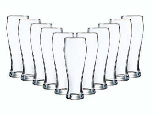 Gläser-Set Serie Bayern 6 teilig Weizenbierglas Weizenbiergläser | Füllmenge: 690 ml | mit Füllstrich 500 ml Ein Glas für alle Weizenbiere
