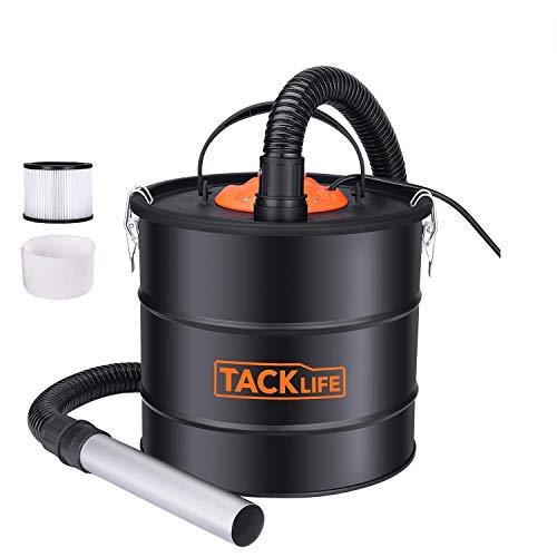 TACKLIFE Aschesuager 800W 18L Kaminsauger mit doppeltem Filtersystem 1,2 m Metallschlauch / 5 m Netzkabel mit Gebläse-PVC03A