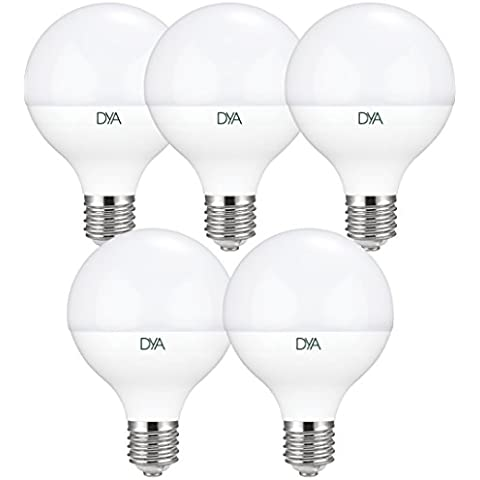 Set 5bombillas globo LED 14W-E27-1350lúmenes-luz fría 6000K °