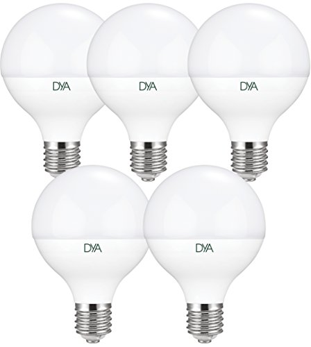 Set 5bombillas globo LED 14W-E27-1350lúmenes-luz cálida 3000K °