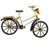 KESOTO 1:10 Scala Anteriore Cestino Bicicletta Modello Bici Artigianato Desktop di Casa Decorazioni Forniture Fotografia Prop - d'oro, Stile 1