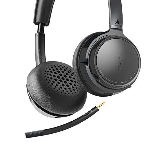 Avantree auf den Ohren Aufliegende Bluetooth-Kopfhörer mit Abnehmbaren Mikrofon, Hi-Fi Kabelloses Headset, 22 Stunden Spielzeit, für das Home-Office, PC Computer, Skype, Telefone, Tablets - AH6B (Telefon-headset Und Mikrofon)