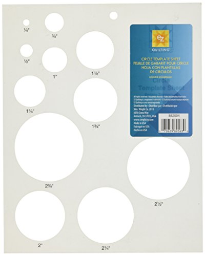 Circles Template Sheet Picture