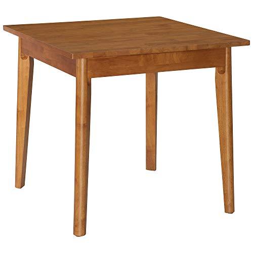 HOMCOM Esszimmertisch Esstisch rechteckig Massivholztisch Küchentisch Möbel Honigfarbe L80 x B80 x H75 cm - Quadratisch Esstisch