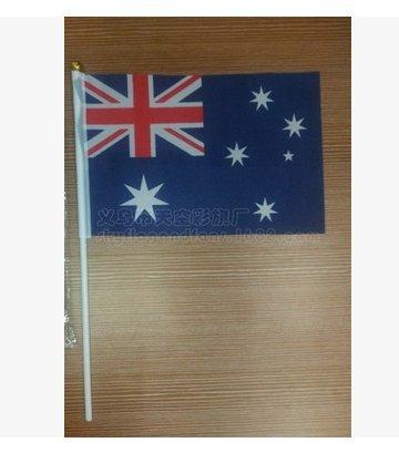 Newin Star Kleine Flaggen, Handflaggen, Mini-Flagge, Australien, 14 x 21 cm, 10 Stück