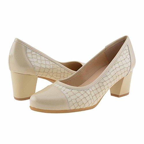 chaussures en cuir Beige