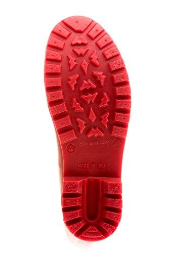 MEI LA Damens Original Perforierte Herze Gummistiefel Rot