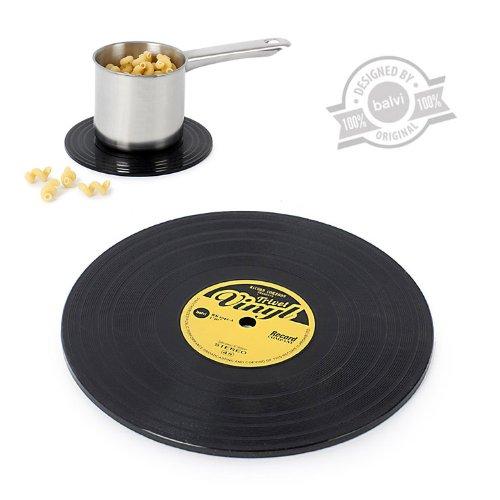 Pot Coaster - Topfuntersetzer aus Silikon als Schallplatte