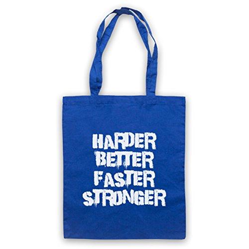 Inspiriert durch Daft Punk Harder Better Faster Stronger Inoffiziell Umhangetaschen Blau