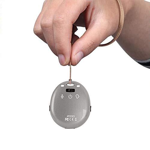 Digitaler Diktiergerät,Klein Schlüsselbund Diktiergerät 10 Stunden zum Sprach-Wiedergabe von USB Kopfhörer & 15 Stunden zum Aufnahme mit erbaut 8GB Speicher Rauschunterdr