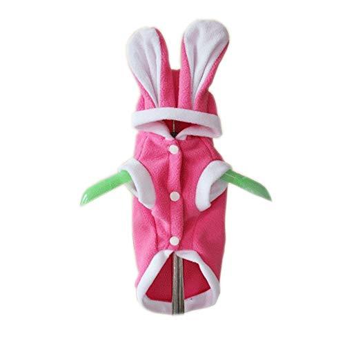 tüm Jumpsuit Hund Kleidung Rot Rosa Kaninchen Plüsch Stoff Kostüm Für Haustiere Männer Frauen Niedlichen Urlaub Cosplay Halloween,Pink,XL ()