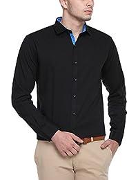 Cotton Tree Men's Casual Shirt_04_Black_XL