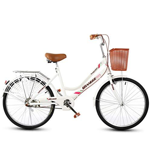 GRXXX Rennrad Travel Light Fahrrad Pendler Geschenk Auto Student 22 Zoll,White-22 inches -