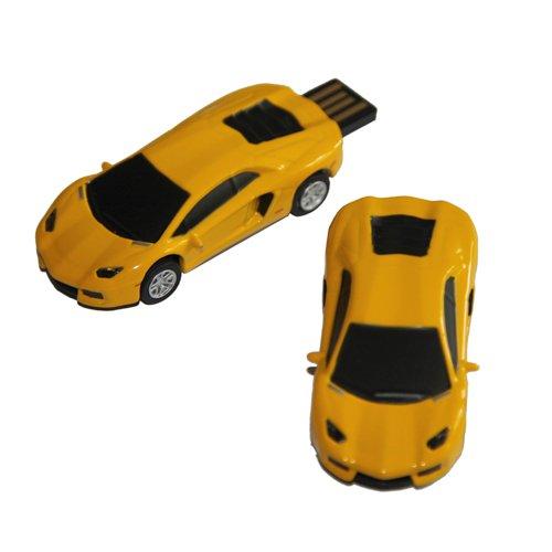 Tomax vettura sportiva Sports Car Auto giallo come un flash drive USB con 64GB di memoria USB Flash