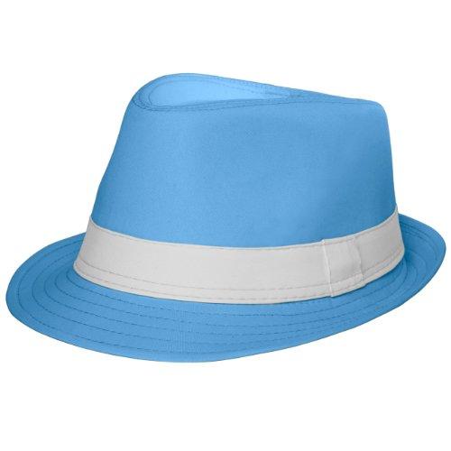 CASPAR HT002 Damen Baumwoll Trilby Hut, Farbe:hellblau