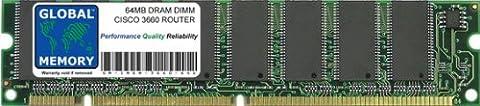 64MB DRAM DIMM ARBEITSSPEICHER RAM FÜR CISCO 3660 ROUTER (CISCO P/N MEM3660-64D)