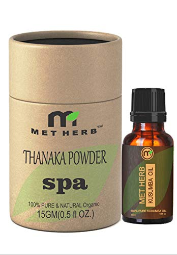 Buy Metherb Thanaka Powder 15 G Kusumba Oil 15 Ml For Permanent