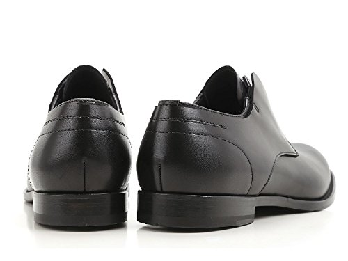 Alexander McQueen Mocassins Fermeture Éclair en Cuir Noir - Code Modèle: 476204 WHQM0 1000 Noir