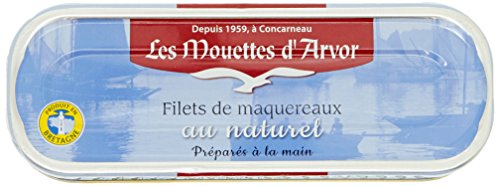 Les Mouettes d'Arvor Filets de Maquereaux au Naturel 169 g - Lot de 5