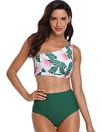 a24c627ba8e0 INNEROSE Costume da Bagno Donna Bikini Monospalla Cut out Costume da Bagno  Monokini Body Spiaggia Mare Push Up Costumi da Bagno…
