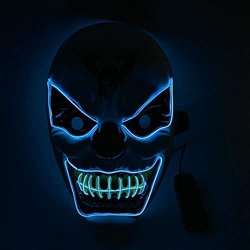 Skating Tanz Kostüm - Halloween-LED-Maske, gruseliger Schädel, El-Draht, beleuchtet, für Erwachsene, für Cosplay, Kostüm, Festival, Party, Dekoration, Kostüme D