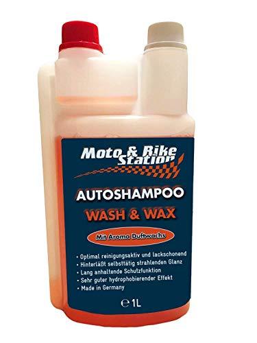 Moto & Bike Autoshampoo - 1000ml Pflegemittel mit Abperleffekt - Auto Lackschutz für den Winter - einzigartige Glanzformel - Made in Germany