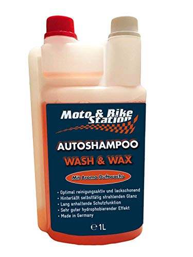 Moto & Bike Autoshampoo Pflegemittel Autowachs Lackpflege Auto mit Abperleffekt, Aktivschaum