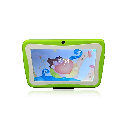XWEM Kinder-Tablet Bluetooth Quad Core 7 Zoll Early Learning Machine WiFi Link Tablet Wireless...