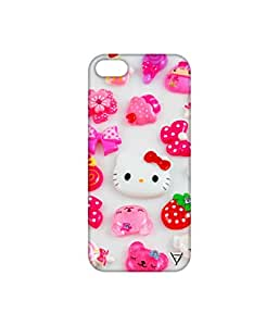 Vogueshell Kitty Pattern Printed Symmetry PRO Series Hard Back Case for Apple iPhone SE