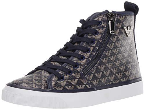 Emporio Armani Damen LACE UP Sneaker Turnschuh, Navy, 36.5 EU