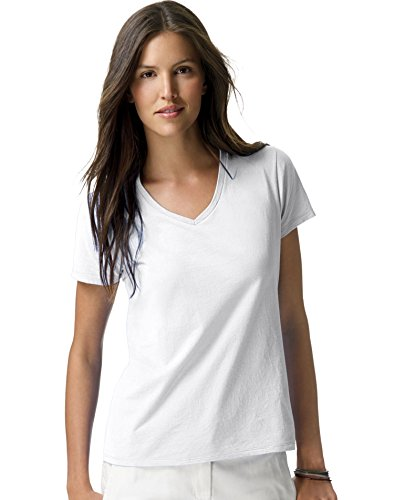 hanes-da-donna-nano-t-v-neck-t-shirt-white-small