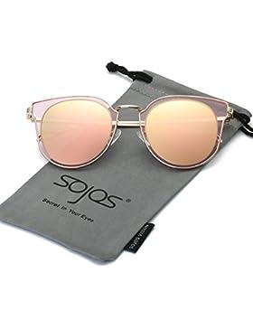 sojos la moda clásica retro redondo UV proteger polarizado gafas de sol para hombre y mujer sj1057