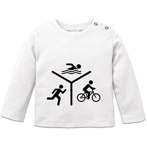 Shirtcity Triathlon Silhouette Logo Baby Langarmshirt by